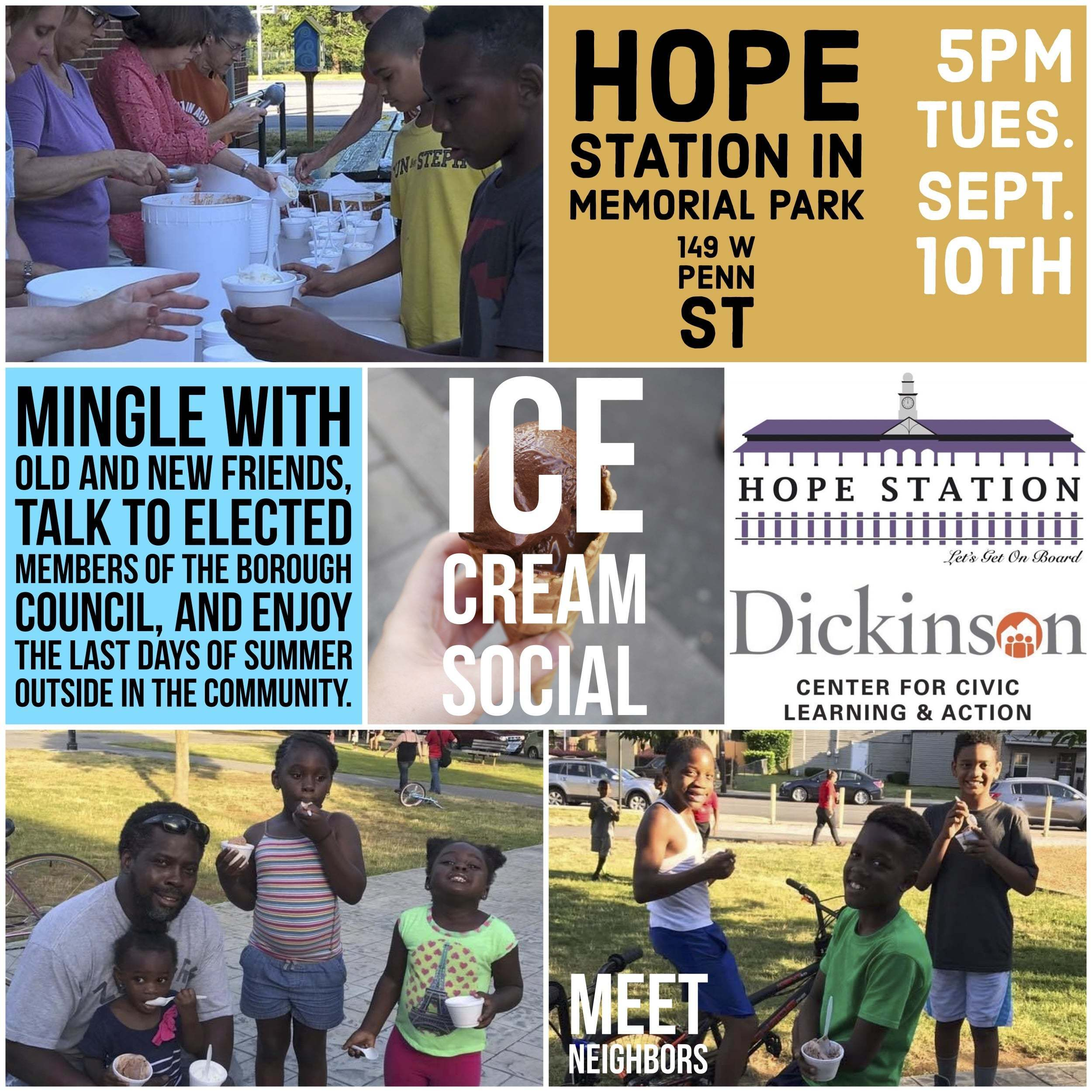 Comm(Unity) Ice Cream Social with Hope Station