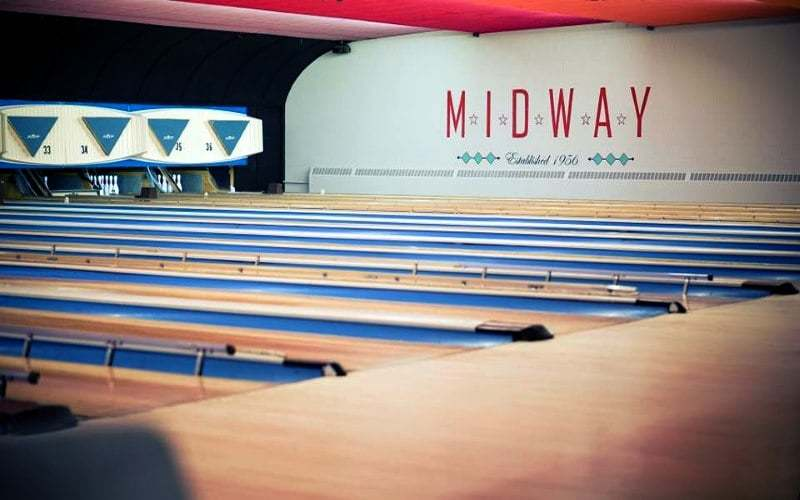 Midway Bowling Center interior